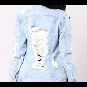 Windsor Frayed Denim Jean Jacket
